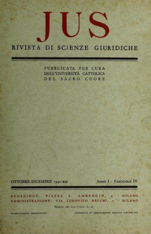 Indice generale dell'annata I (1940)