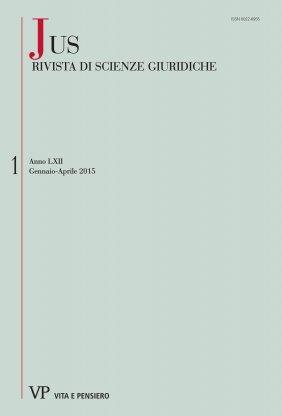 JUS - 2015 - 1. Il Diritto romano nella civilistica europea