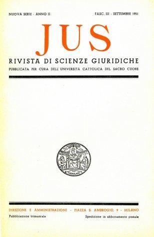 La crisi attuale del diritto nell'impostazione romanistica
