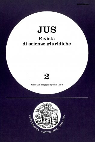 La giurisprudenza e la prassi amministrativa (1985 -1991). I.